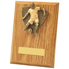 MALE FOOTBALLER PLAQUE 1031BP-TWT