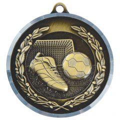 Diamond Milled Football Medal MD012G-TWT