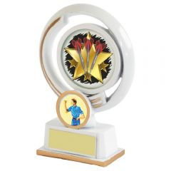 WHITE/GOLD DARTS TROPHY 1071-TWT