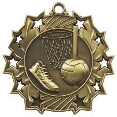 NETBALL STAR MEDAL MD856-TWT