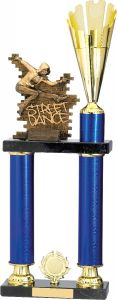 STREET DANCE BLUE TROPHY A0196-GWT