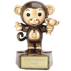 Bronze/Gold monkey Trophy A1023-GW