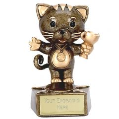 Bronze/Gold Cat Trophy A1024-GW