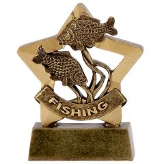 Mini Star Fishing Trophy A1119-GW