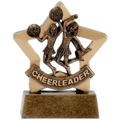 Mini Star Cheerleader Trophy A1125-GW