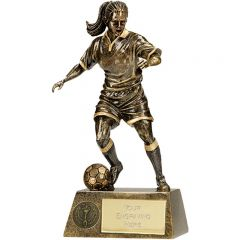 Pinnacle Female Football Trophy A1201A-GW