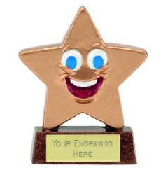 Mini Star Happy Face Trophy A1626-GW