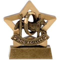Mini Star Dog Agility Trophy A1632-GW