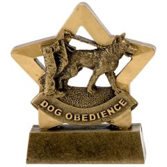 Mini Star Dog Obedience Trophy A1634-GW