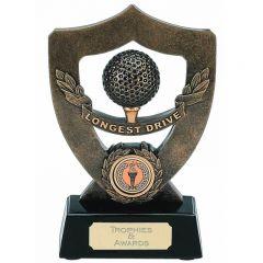 Celebration Shield Longest Drive Golf Trophy A349-GW