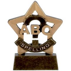 Mini Star Spelling Trophy A947-GW