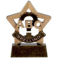 Mini Star Spelling Trophy A947-GW