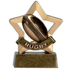 Mini Star Rugby Trophy A959-GW