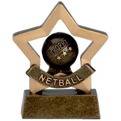 Mini Star Netball Trophy A965-GW