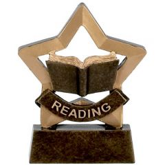 Mini Star Reading Trophy A973-GW