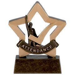 Mini Star Attendance Trophy A974-GW