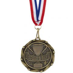 SPORTS DAY COMBO MEDAL WITH SLIM RIBBON AM1016.12