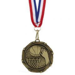 Basketball Combo Medal and Ribbon AM1058.12-GW
