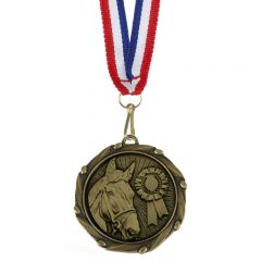 Equestrian / Horse Combo Medal and Ribbon AM1061.12-GW