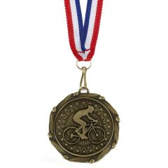Cycling Combo Medal and Ribbon AM1063.12-GW