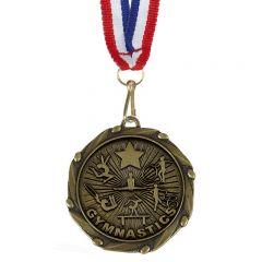 Gymnastics Combo Medal and Ribbon AM1150.12-GW