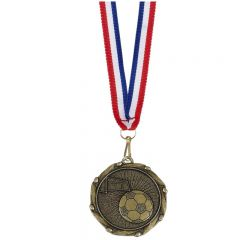 Football Combo Medal and Ribbon AM908-GW