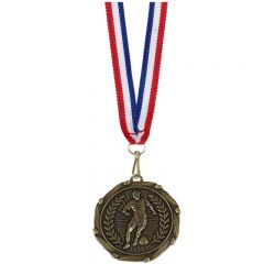 Football Player Combo Medal and Ribbon AM917G-GW