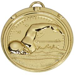 Swimming Medal With Ribbon AM992R.01-GW