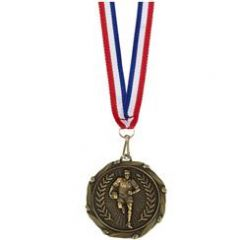 Rugby Combo Medal with a slim Ribbon AM998.12-GW