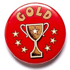 Gold/ Silver / Bronze Cup Pin Badge BA005-GW