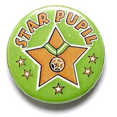 Star Pupil Pin Badge BA018-GW