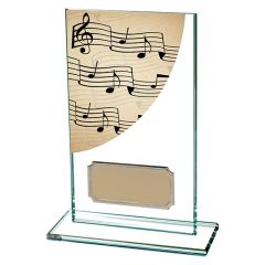 COLOUR CURVE MUSIC GLASS AWARD CR4763-TSA