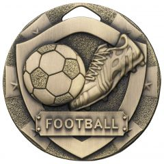 SHIELD FOOTBALL MEDAL BRONZE G767-GWT