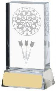 Crystal Glass Darts Award GLM90-GWT