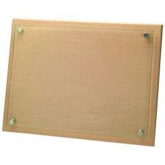 Jade Glass/Wood Plaque GWL79-TD