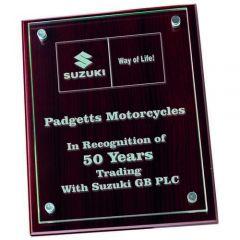 Jade Glass/Wooden Plaque GWM79-TD