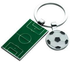 Football Pitch and Ball Keyring HK604-GWT