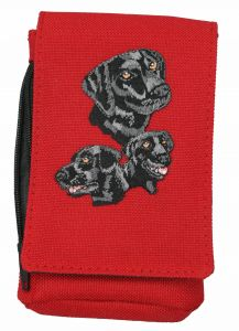 Black Lab Embroidered Phone Pouch BG46BL-BTC