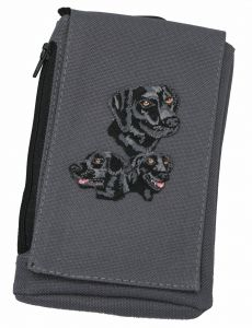 Black Lab Embroidered XL Phone Pouch BG49BL-BTC