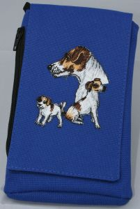 Jack Russell Embroidered Phone Pouch BG46-BTC