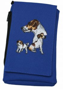 Jack Russell Embroidered XL Phone Pouch BG49JR-BTC