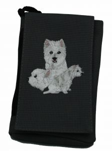 Westie Embroidered XL Phone Pouch BG49W-BTC