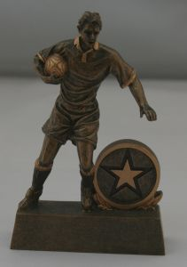 Male Action Figure Rugby Trophy CL-0004