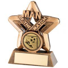 Star Man Of The Match Football Trophy RF418-TD