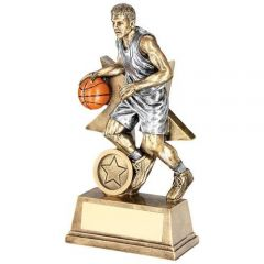 Male Basketball 'Star Action' Figure Trophy RF178-TD