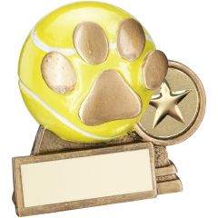 3D Mini Tennis Ball With Dog Paw Trophy RF560-TD