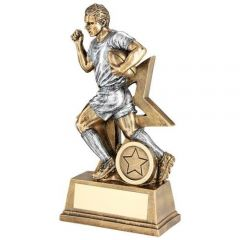 Silver and Bronze Rugby Player Trophy RF174-TD