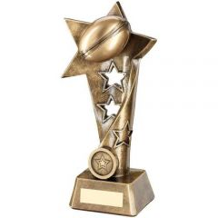 Bronze/Gold Star Rugby Trophy RF654-TD