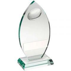 Jade Glass Rugby Award TD444-TD