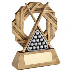 POOL BALL ON 3 PRONGED RISER TROPHY RF515-TD
